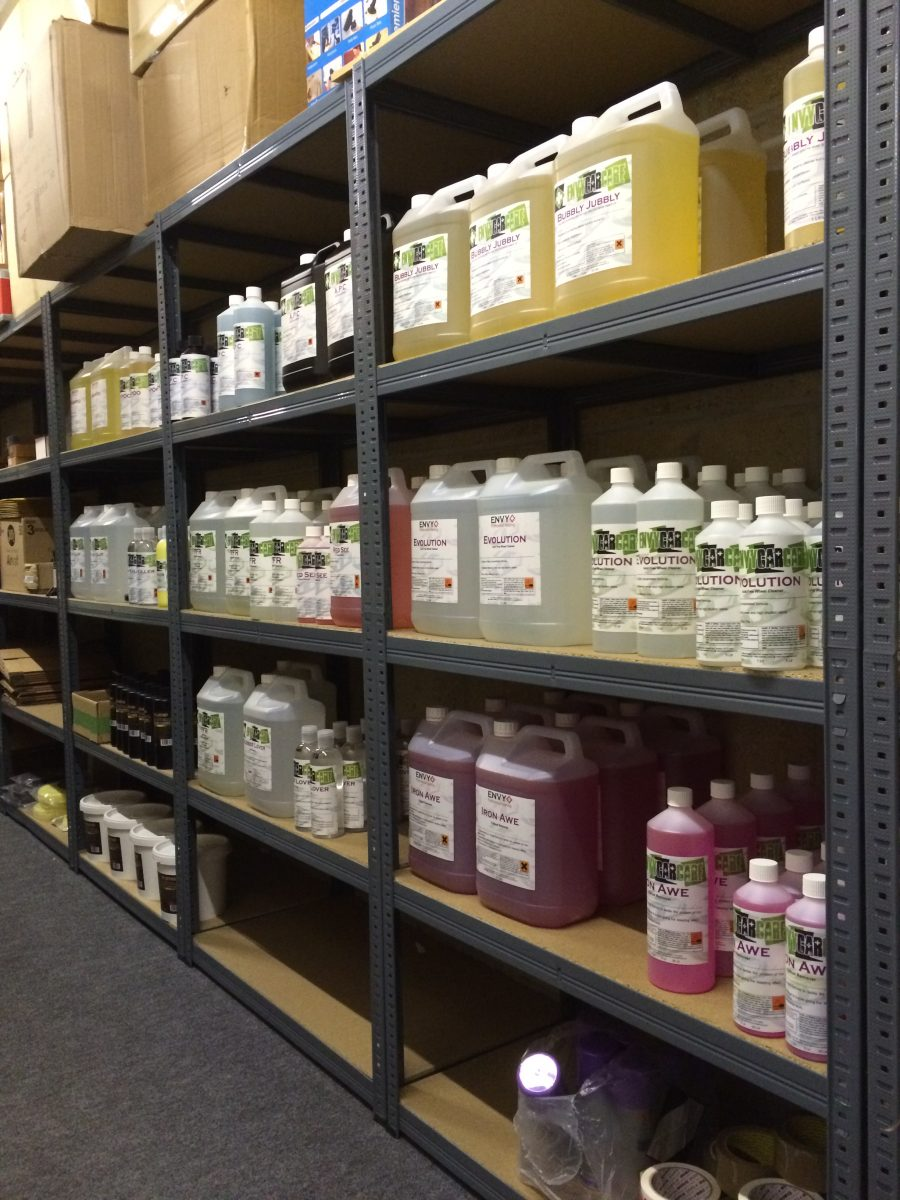 Well stocked Car Detailing Shop